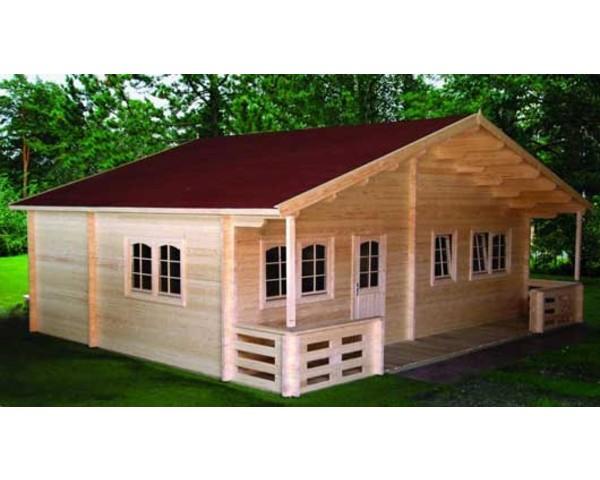 Modelo toledo 49m2 casas de madera en tenerife for Casas de madera shop